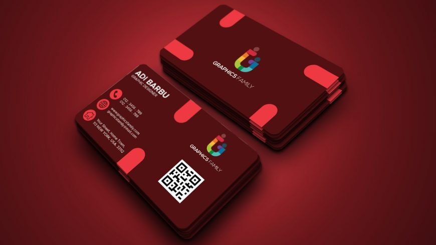 Free Professional Red Business Card Desgin