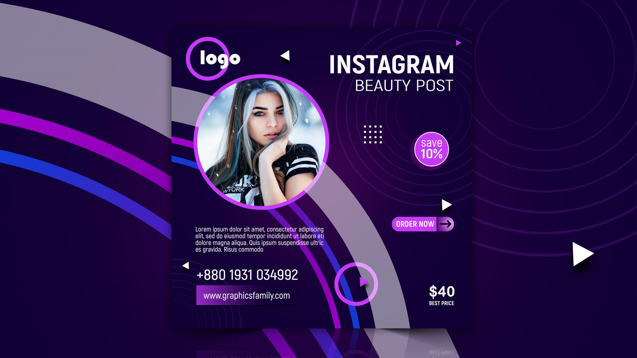 Free Social Media Post Design for Cosmetics Business Digital Marketing Download