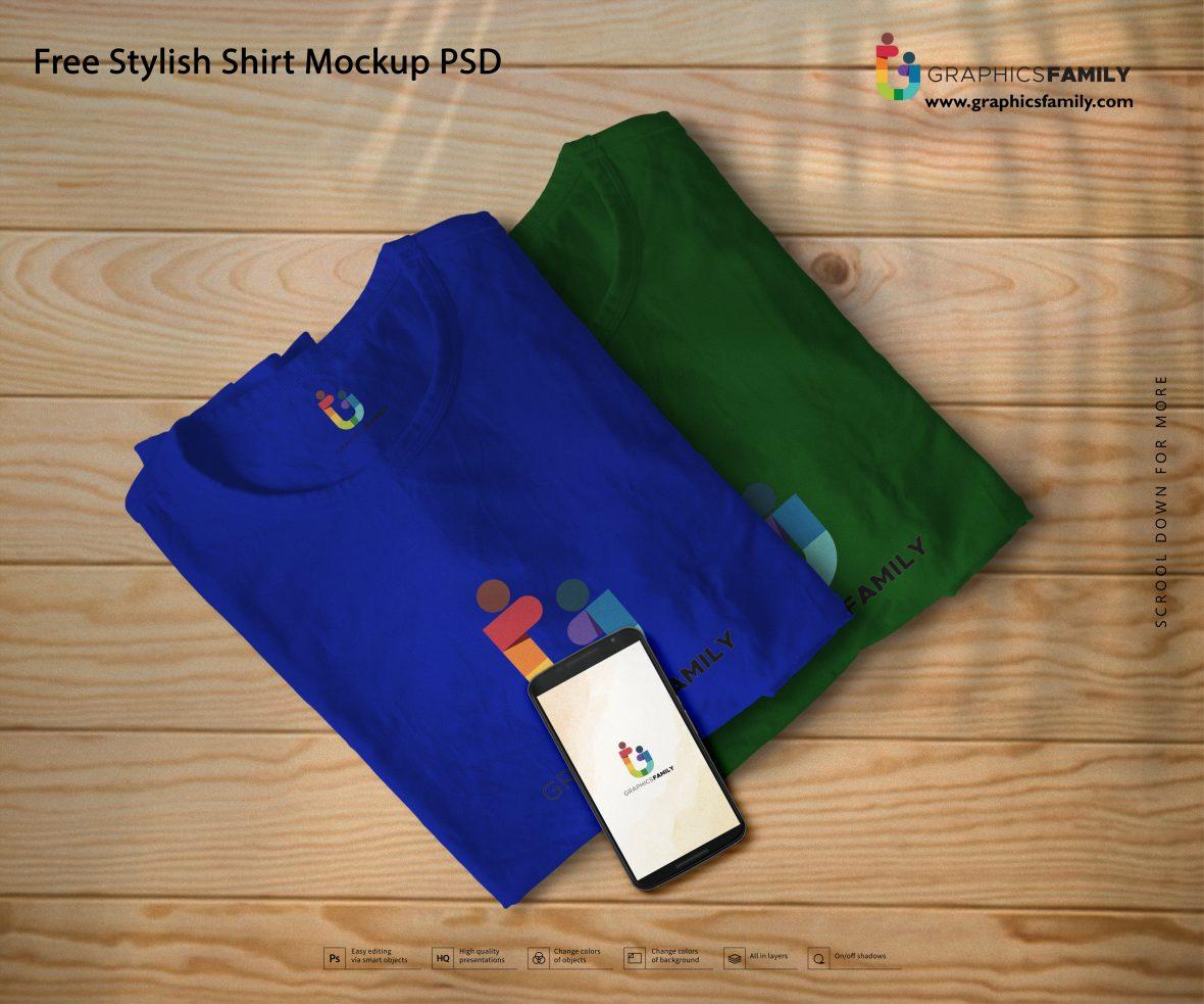 Free Stylish Shirt Mockup PSD