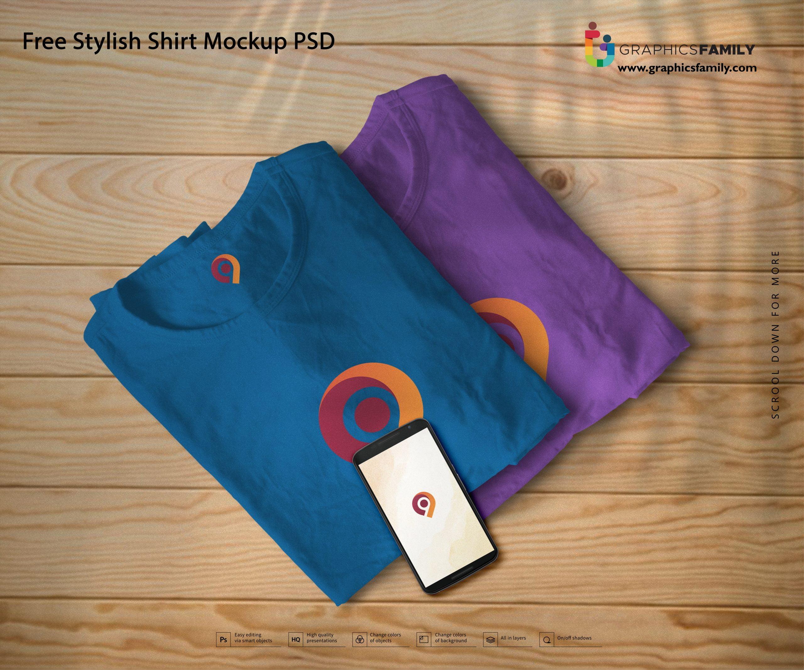 Free Stylish Shirt Mockup PSD Download