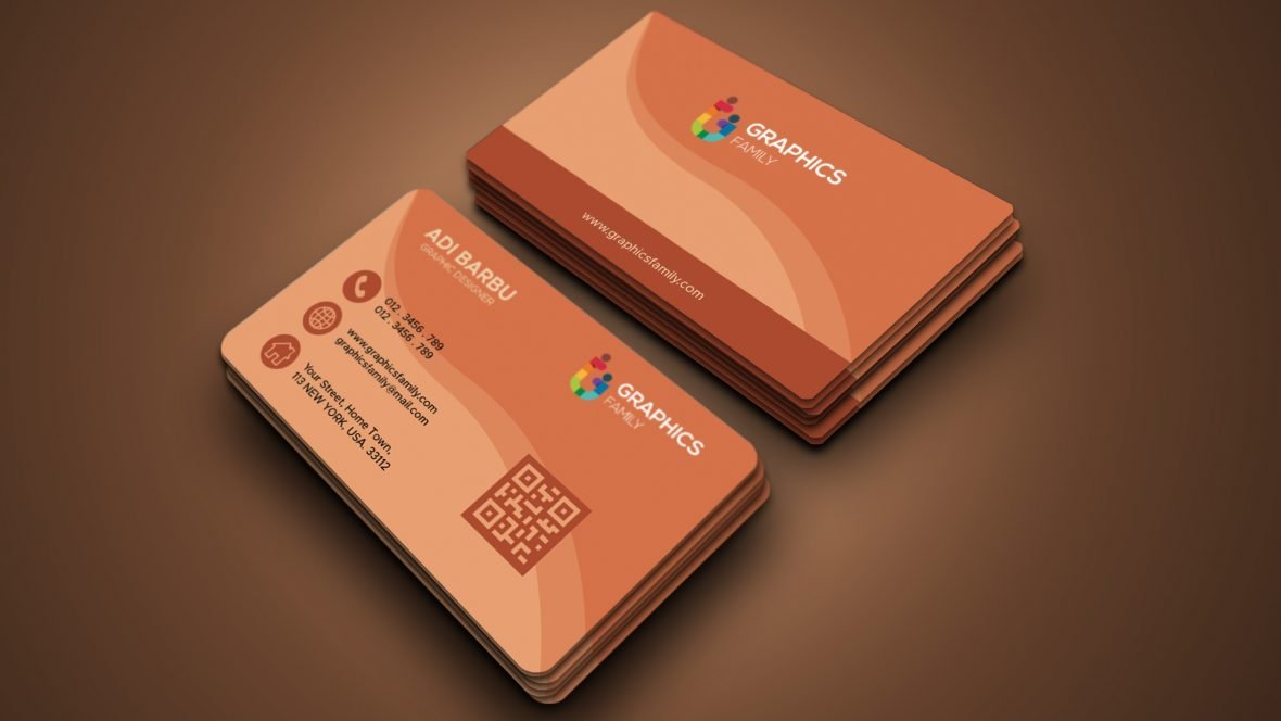 Free Visit card with abstract detailed