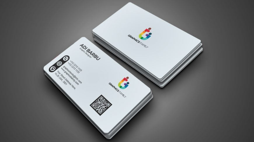 Free White Elegant Business Card Design