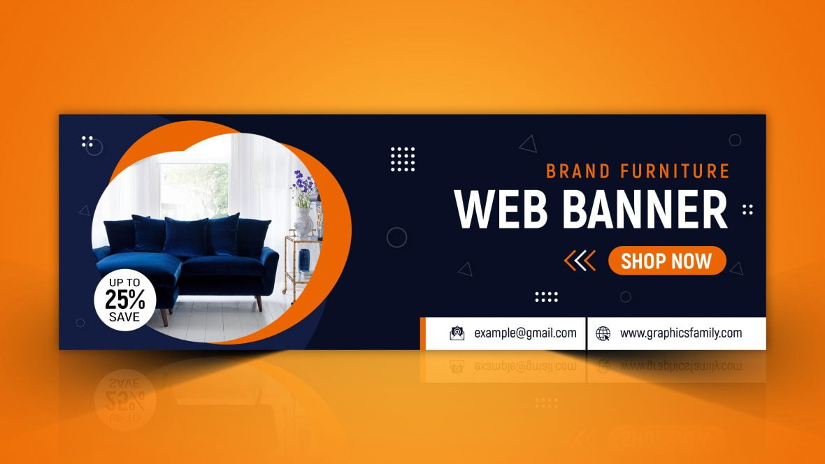Furniture Business Web Banner Template Free PSD