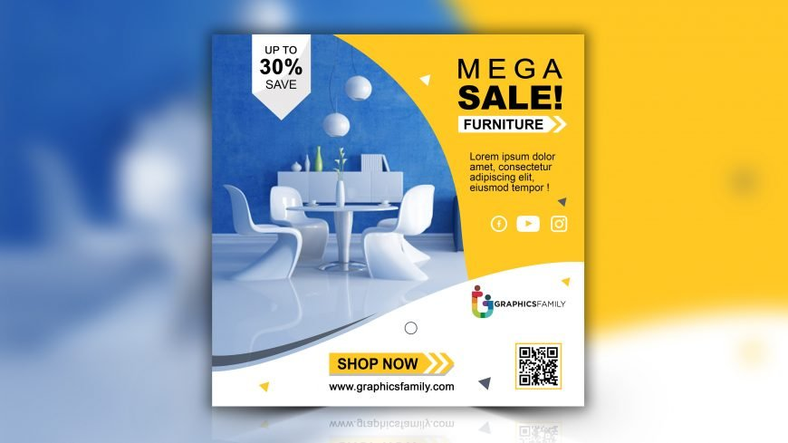 Furniture Sale Instagram Post Design Free PSD