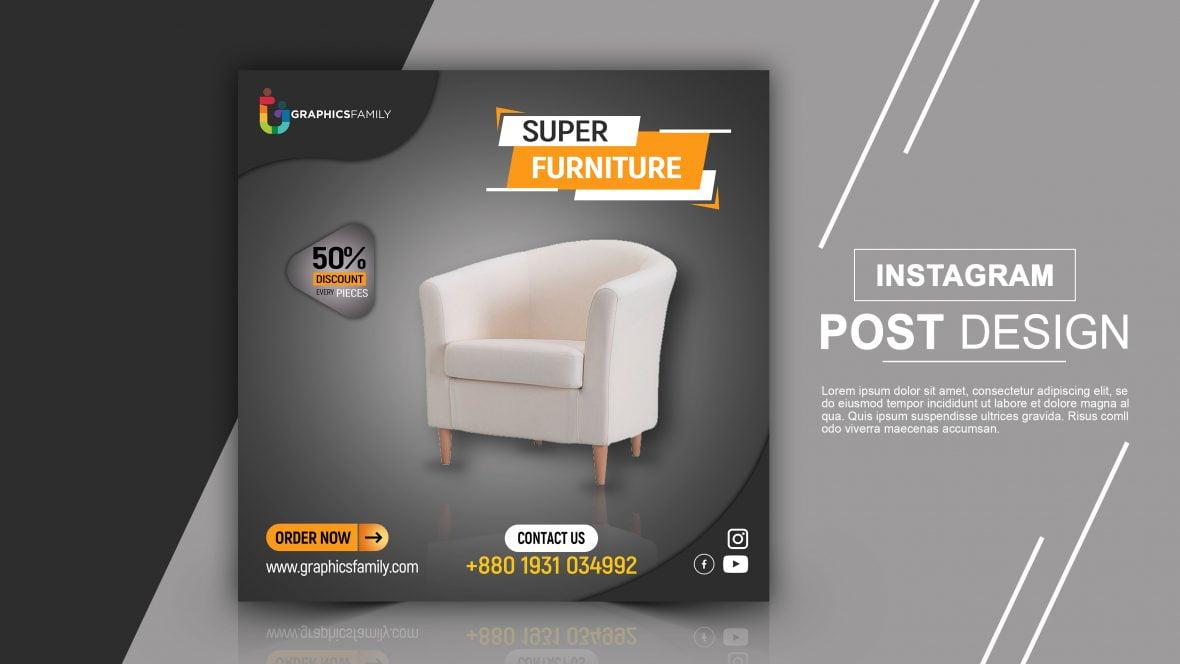 Furniture Store Instagram Post Design