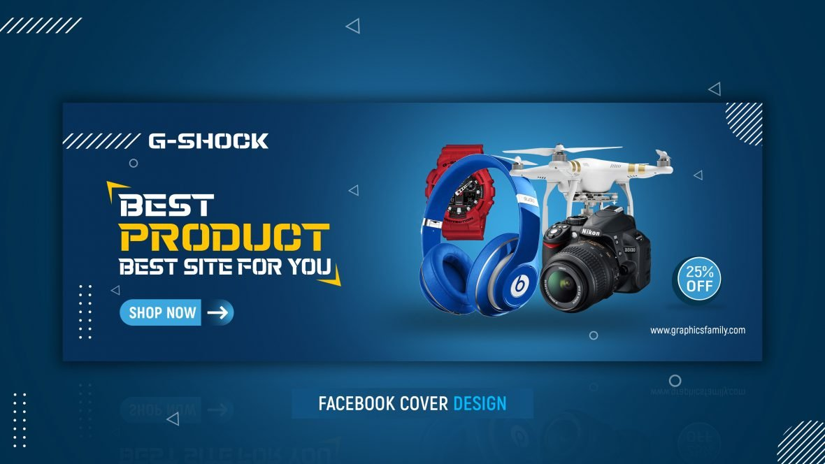Gadgets Facebook Cover Design Template Free PSD