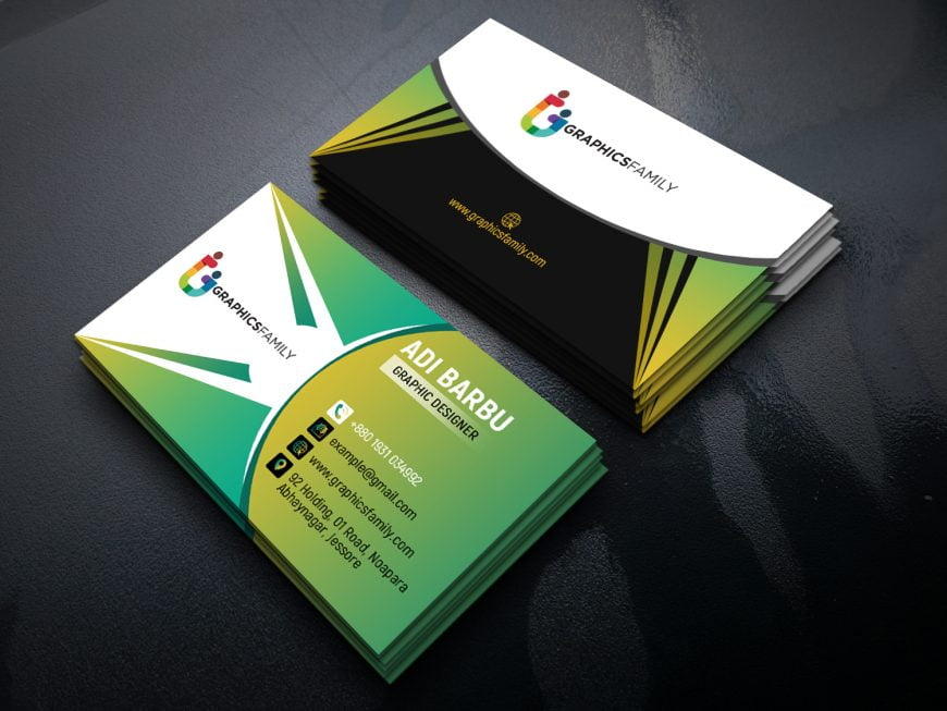 Green Elegant Corporate Card