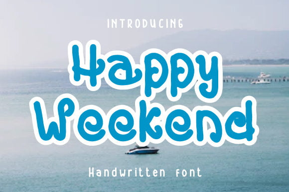 Happy-Weekend-Font Download