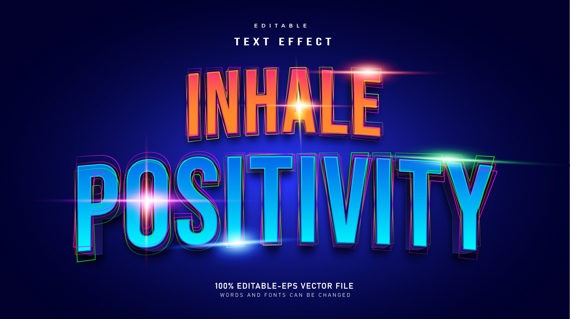 Inhale-Positivity-Neon-Editable-Text-Effect
