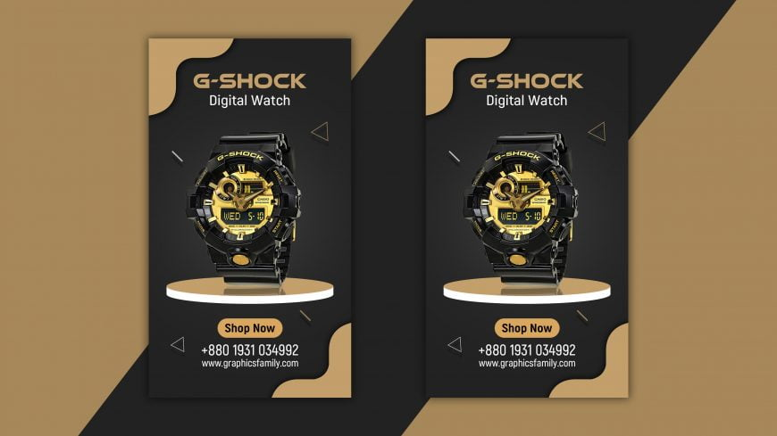 Instagram Story Watch Sale Design PSD