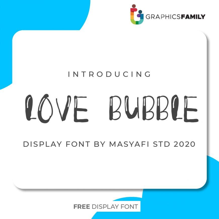 Love Bubbles Font