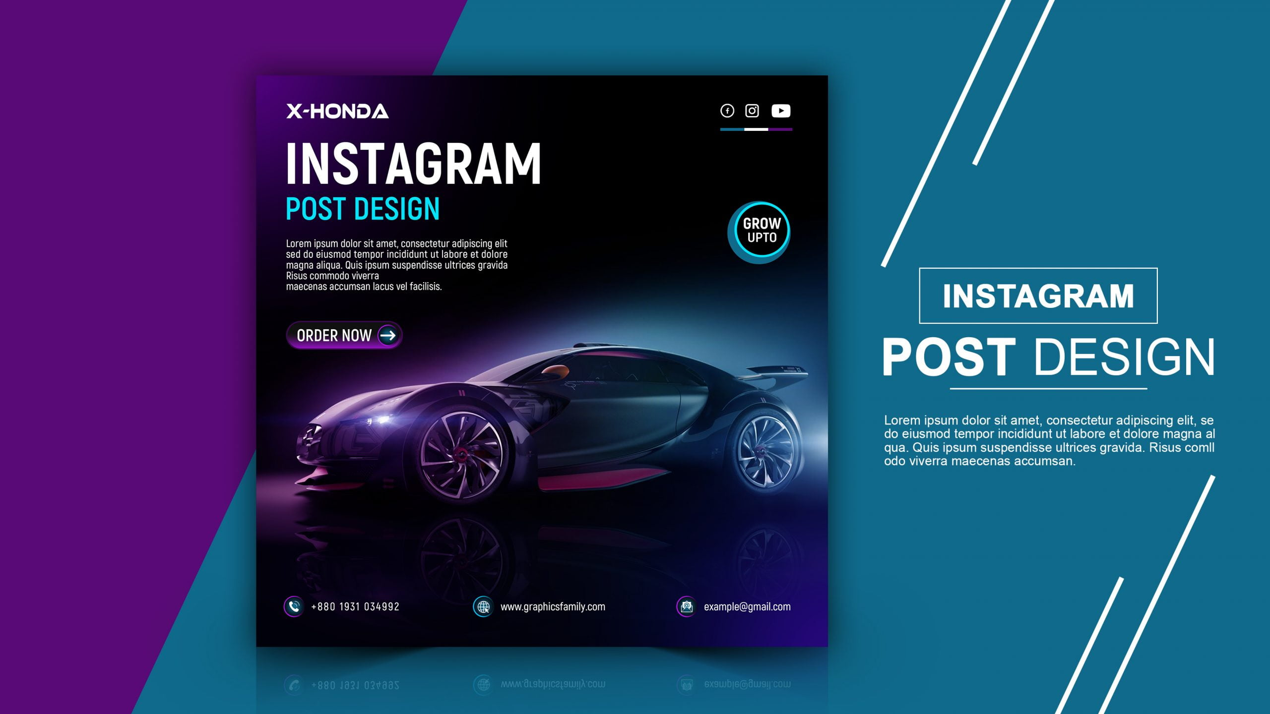 Luxury Car Social Media Post Template Download