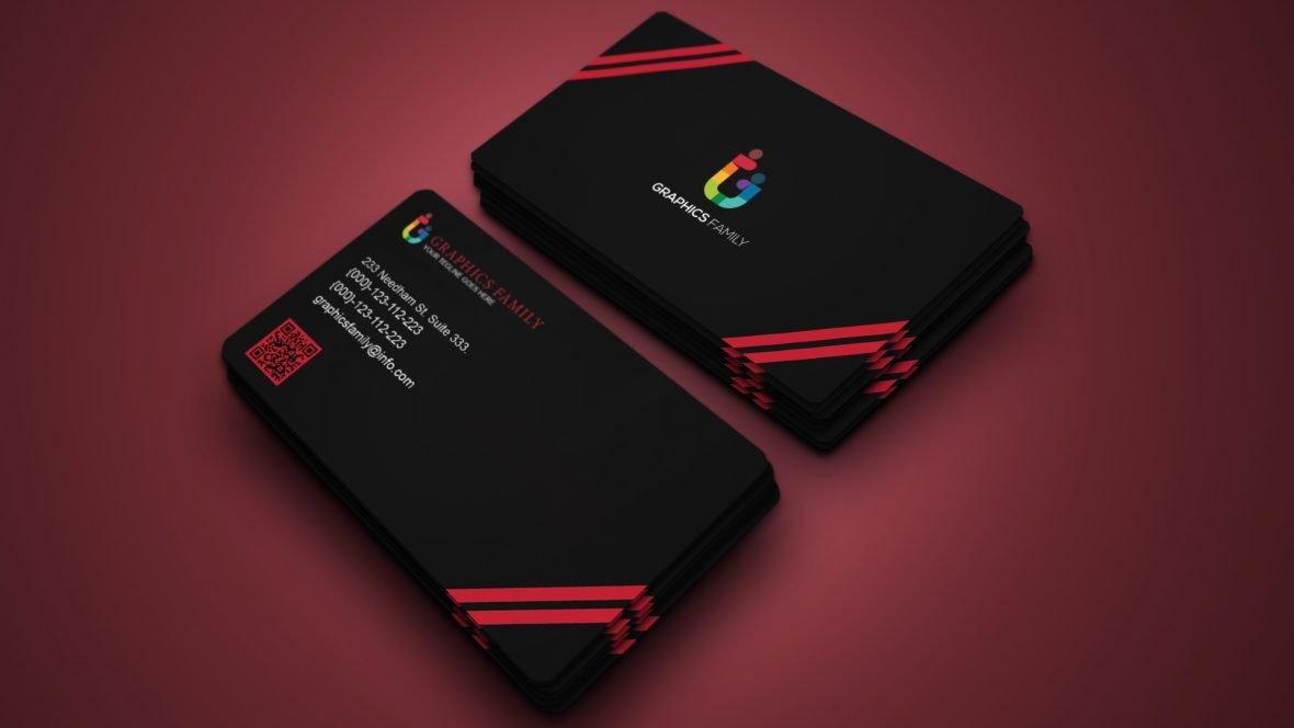 Luxury Dark Business Card Design