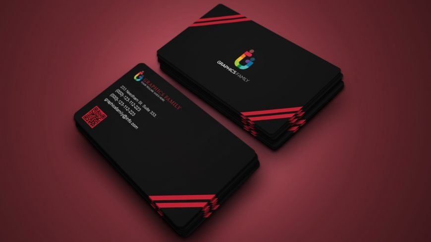 Luxury Dark Business Card Design