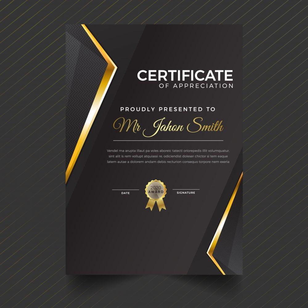 🧑🏿🎓Luxury Dark Portrait Certificate