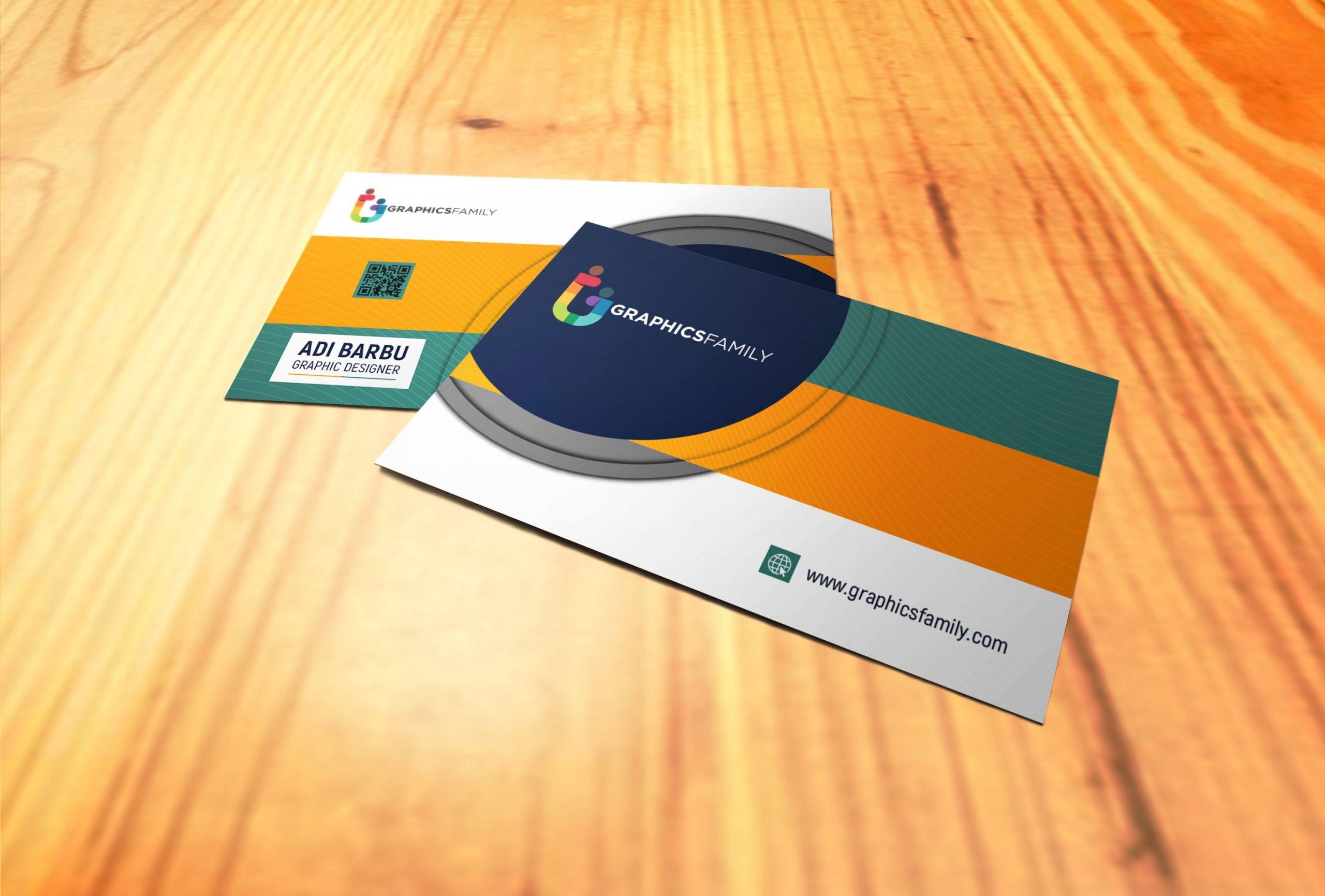 Modern Clean Business Card Template PSD