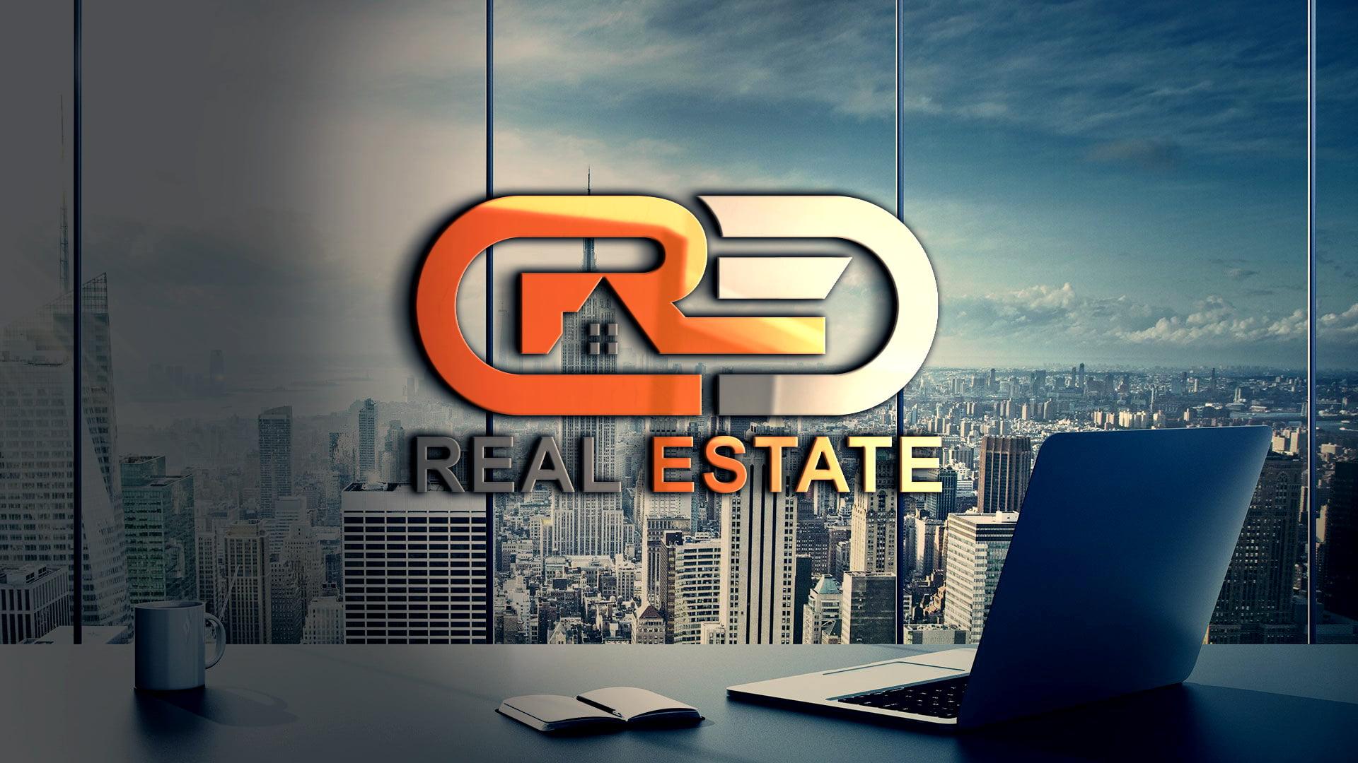 Modern Real Estate Company Logo Design PSD Download