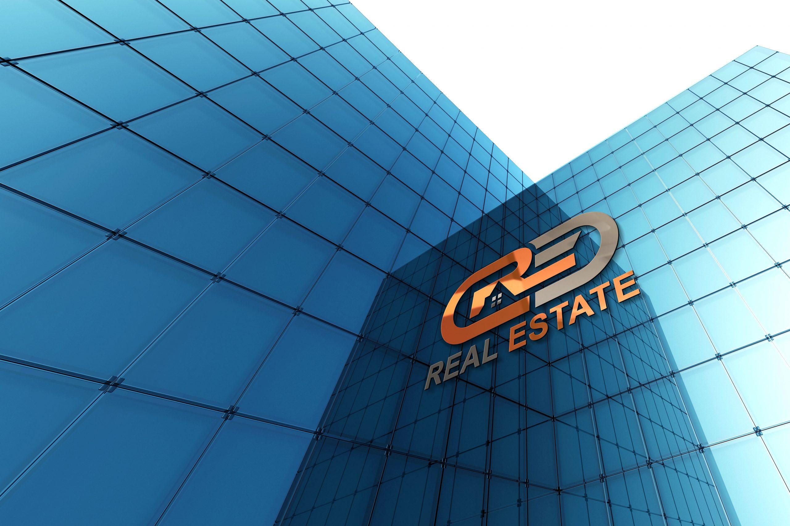 Modern Real Estate Company Logo Design PSD