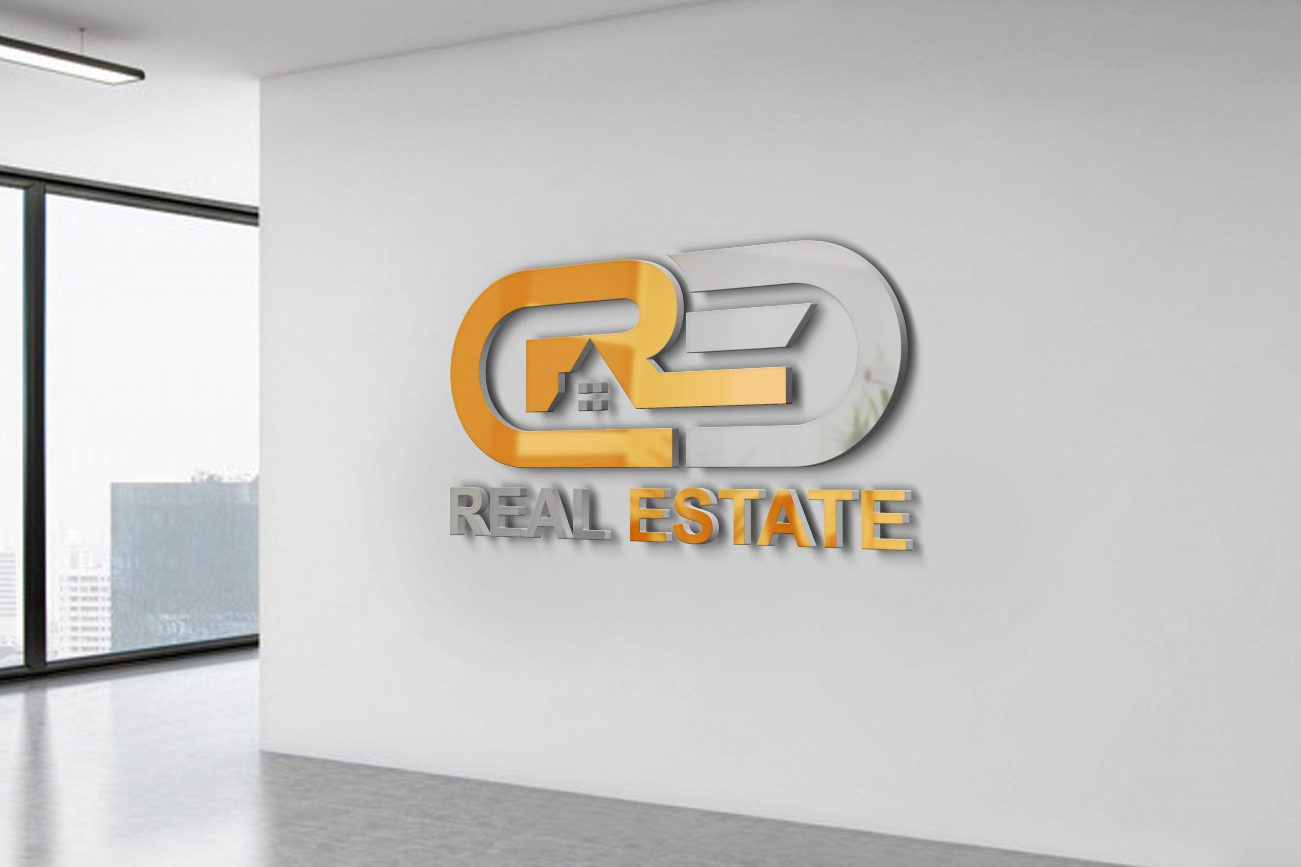 Modern Real Estate Company Logo Template PSD