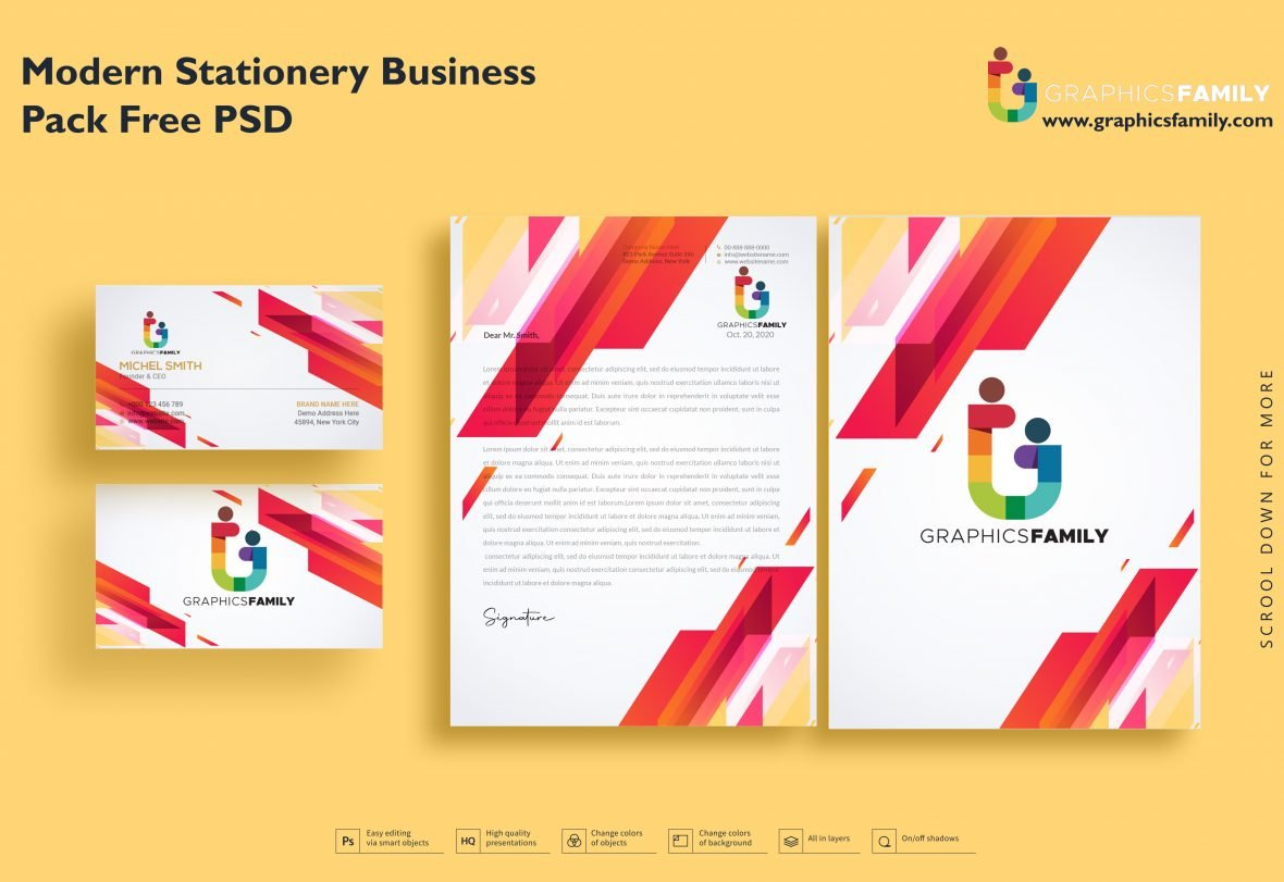 👔 🧑🏼‍💼 Modern Stationery Business Pack Free Psd Download