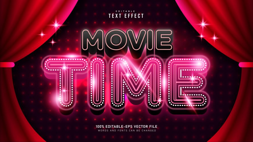Movie-Time-Text-Effect