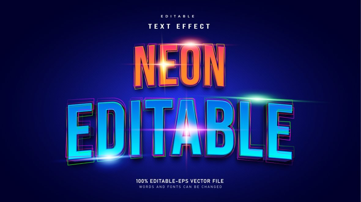 Neon-Editable-Text-Effect