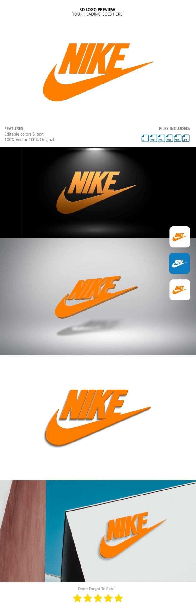Nike 3D Logo Preview Mockup