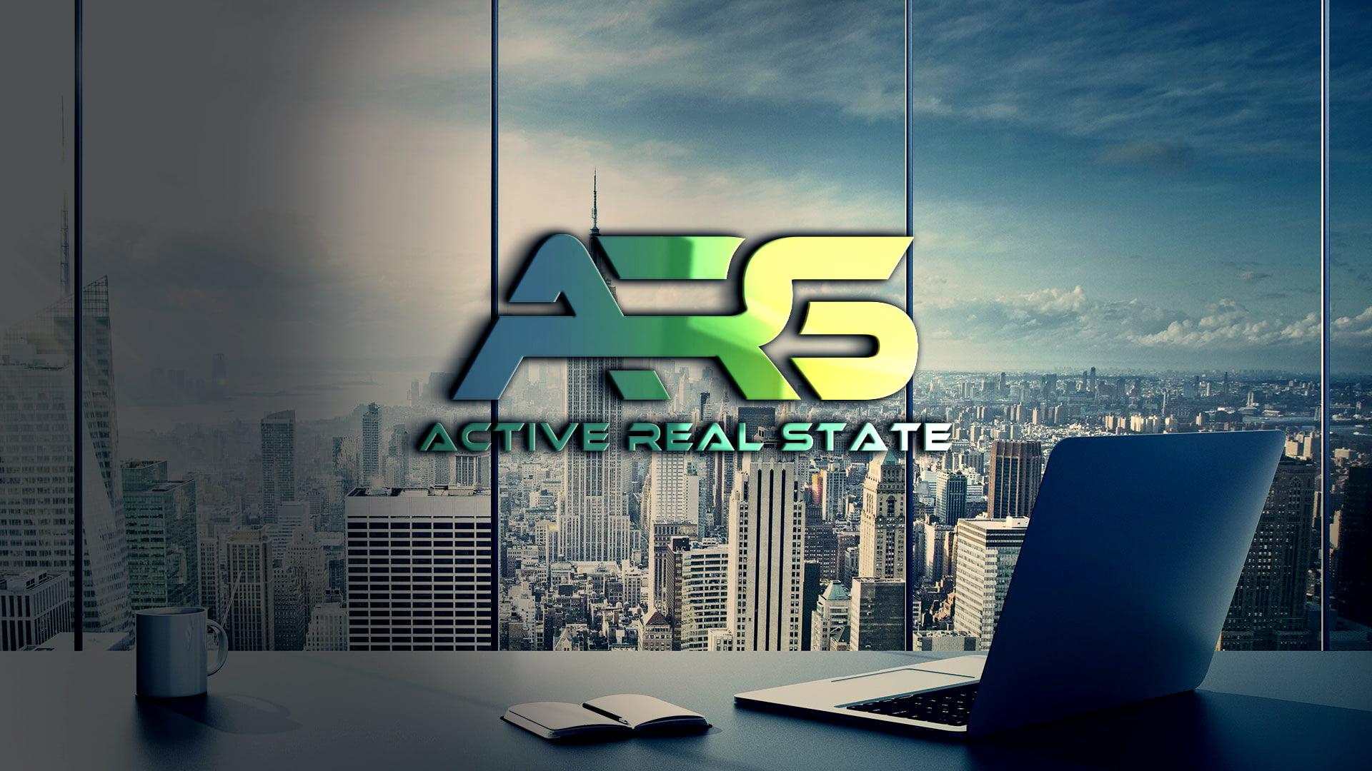 Office Glass Wall Alphabet Logo Design Template PSD