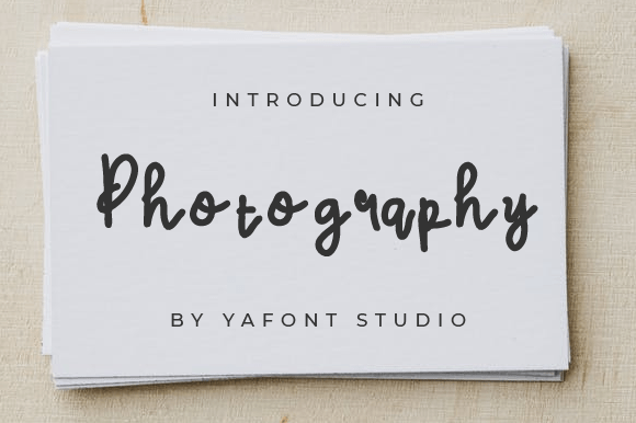 Photography-Font-Download