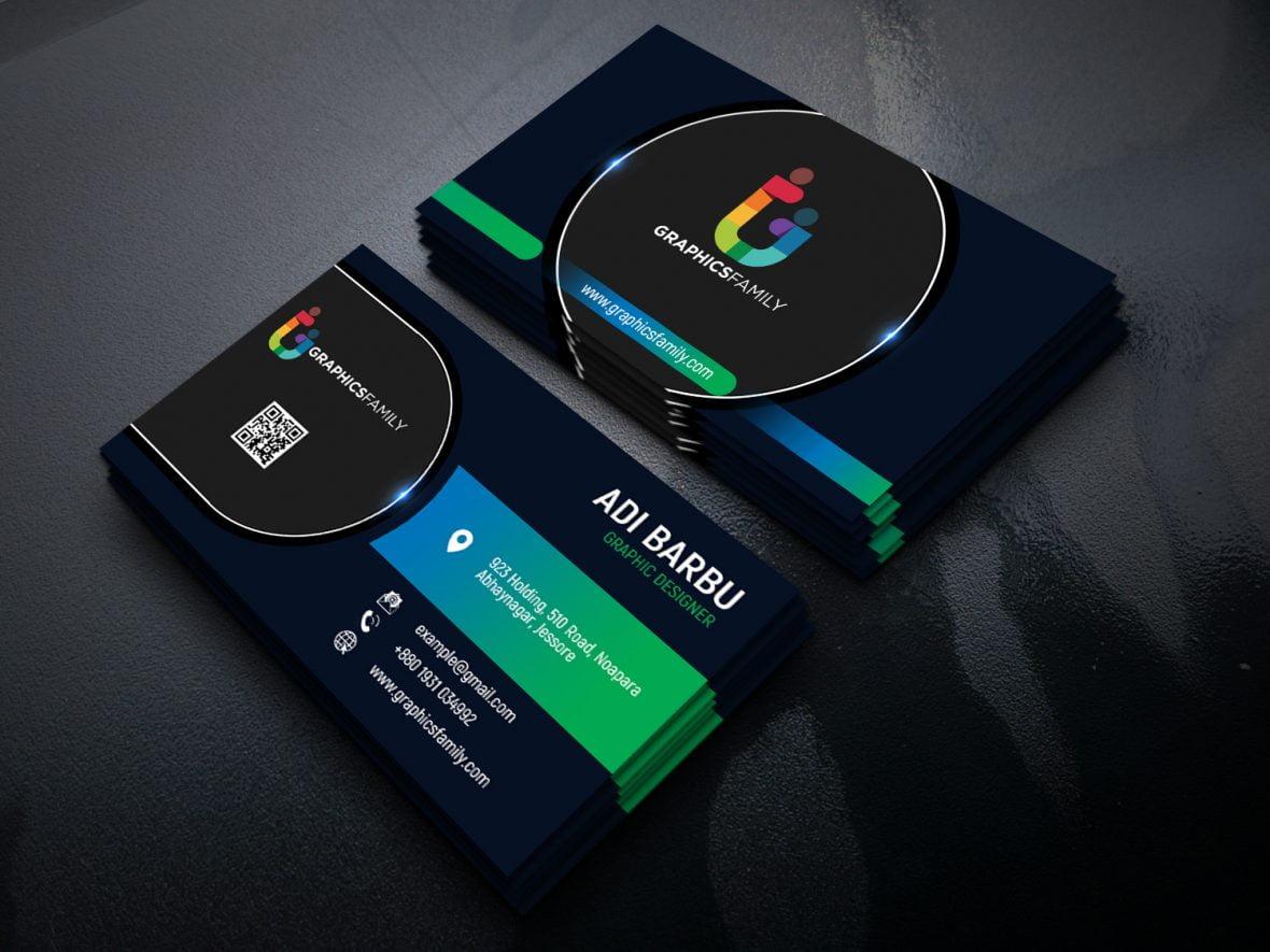 Modern Professional Business Card Free PSD