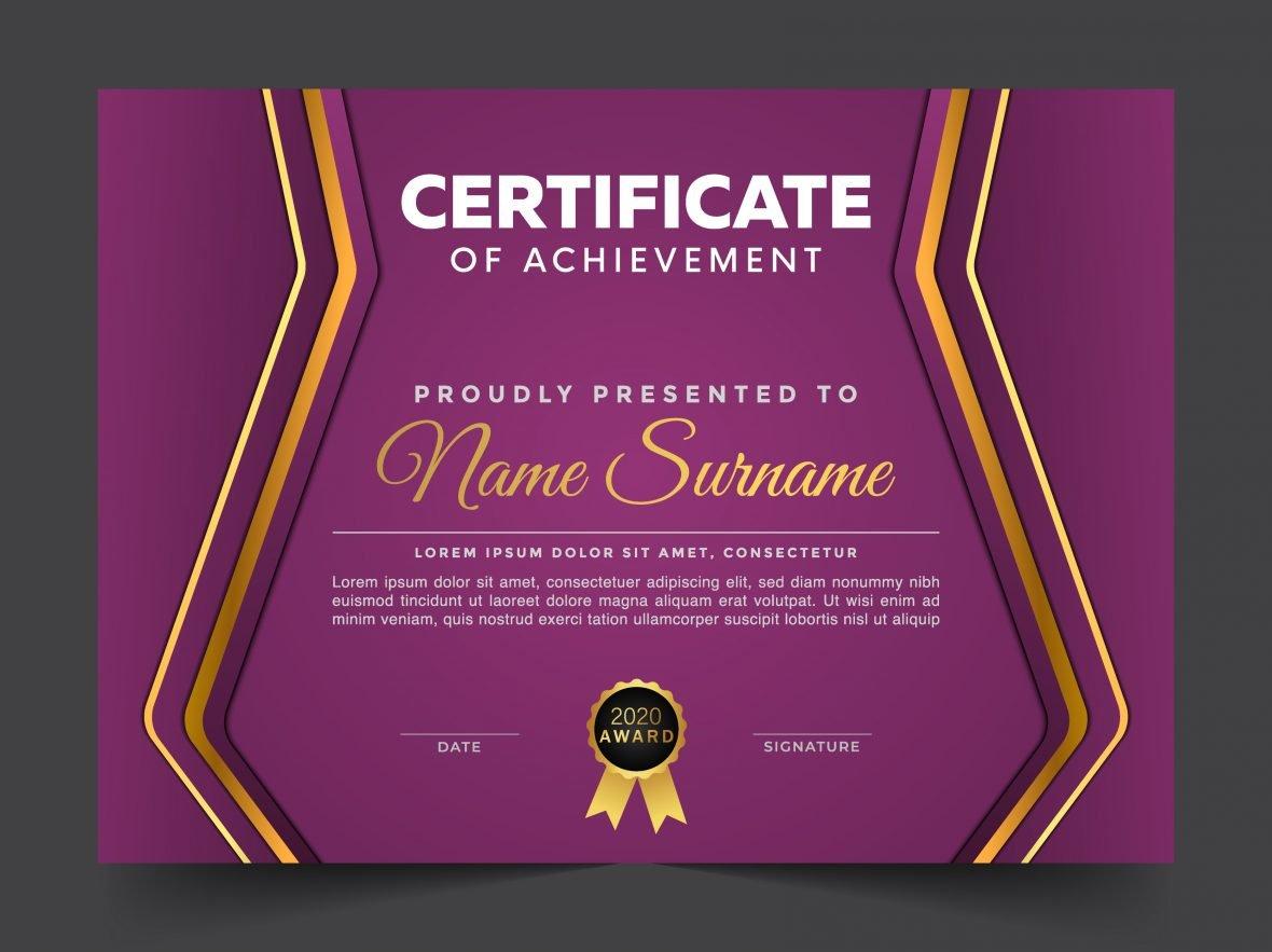 🟪 Purple Modern Certificate Design