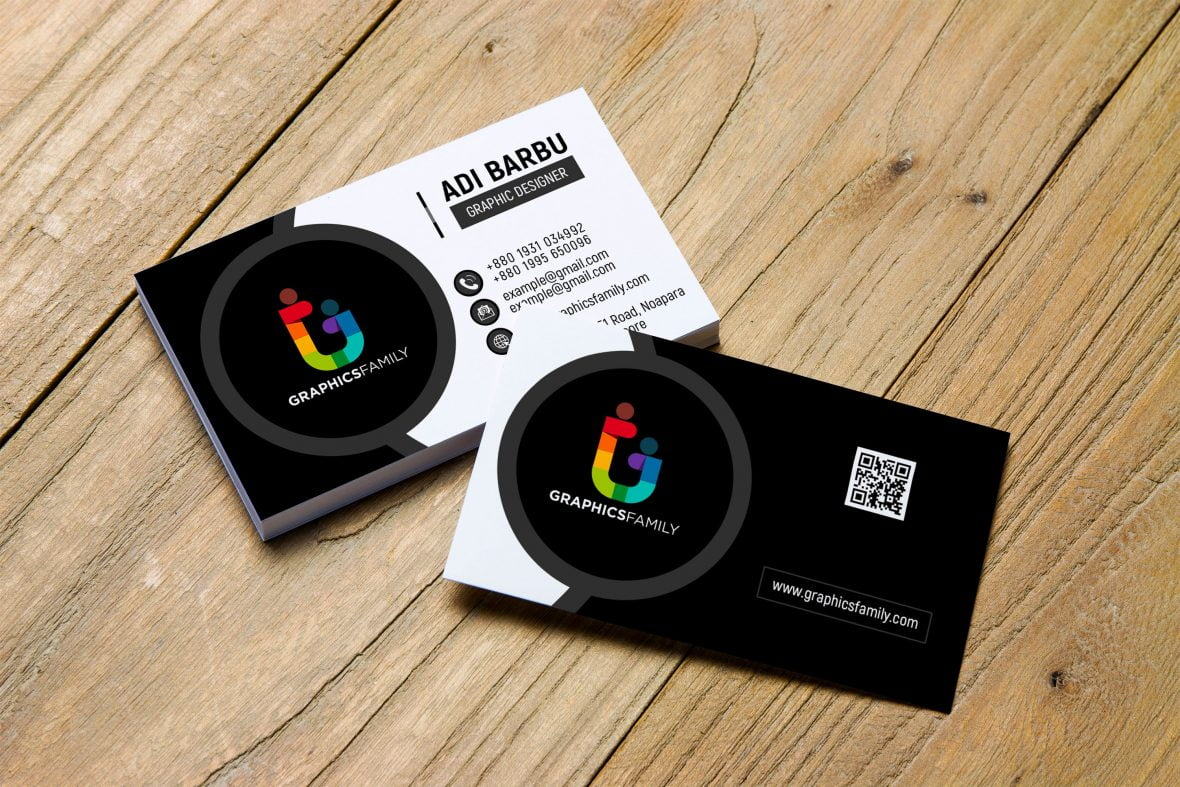 Simple Black and White Business Card Design Download