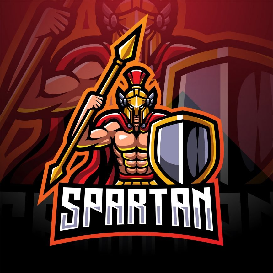 Spartan Army Esports Mascot Logo Template