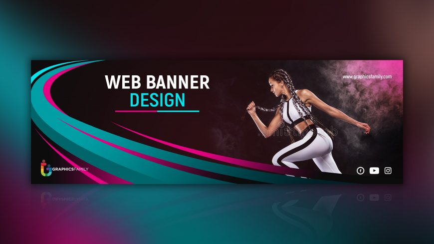 Sports Style Banner Design Free PSD