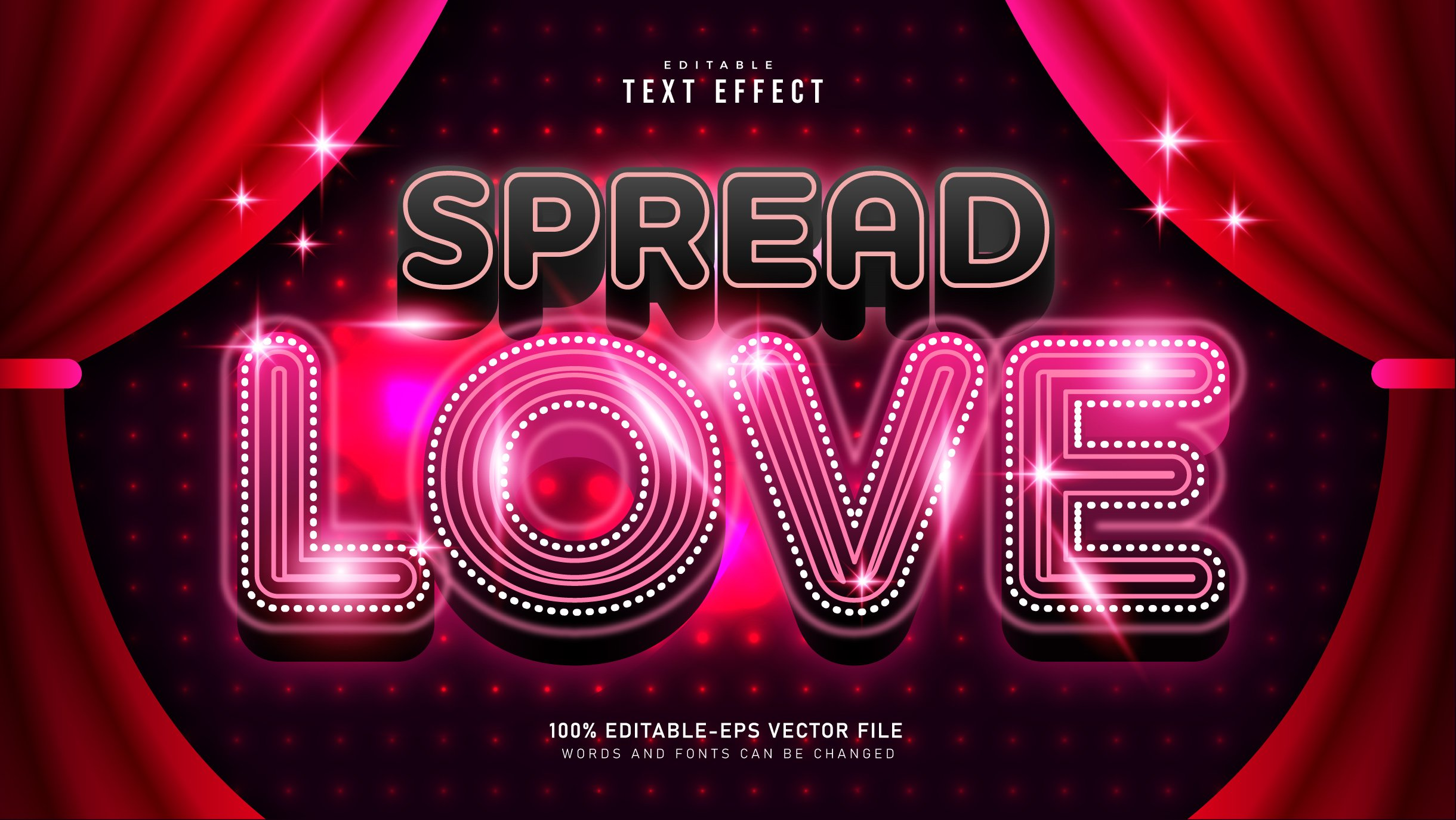 Spread Love Movie Time Text Style Effect