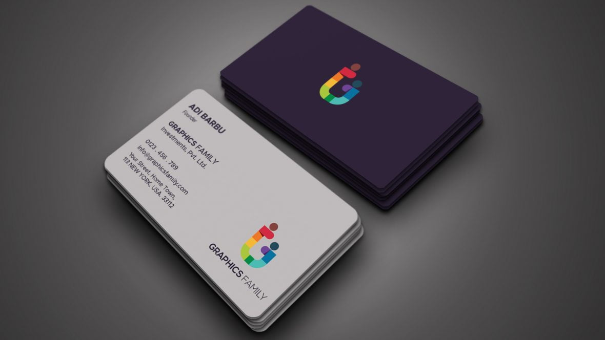 Stylish Magenta and White Elegant Business Card Design
