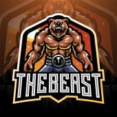 The Beast Esports Mascot Logo Template
