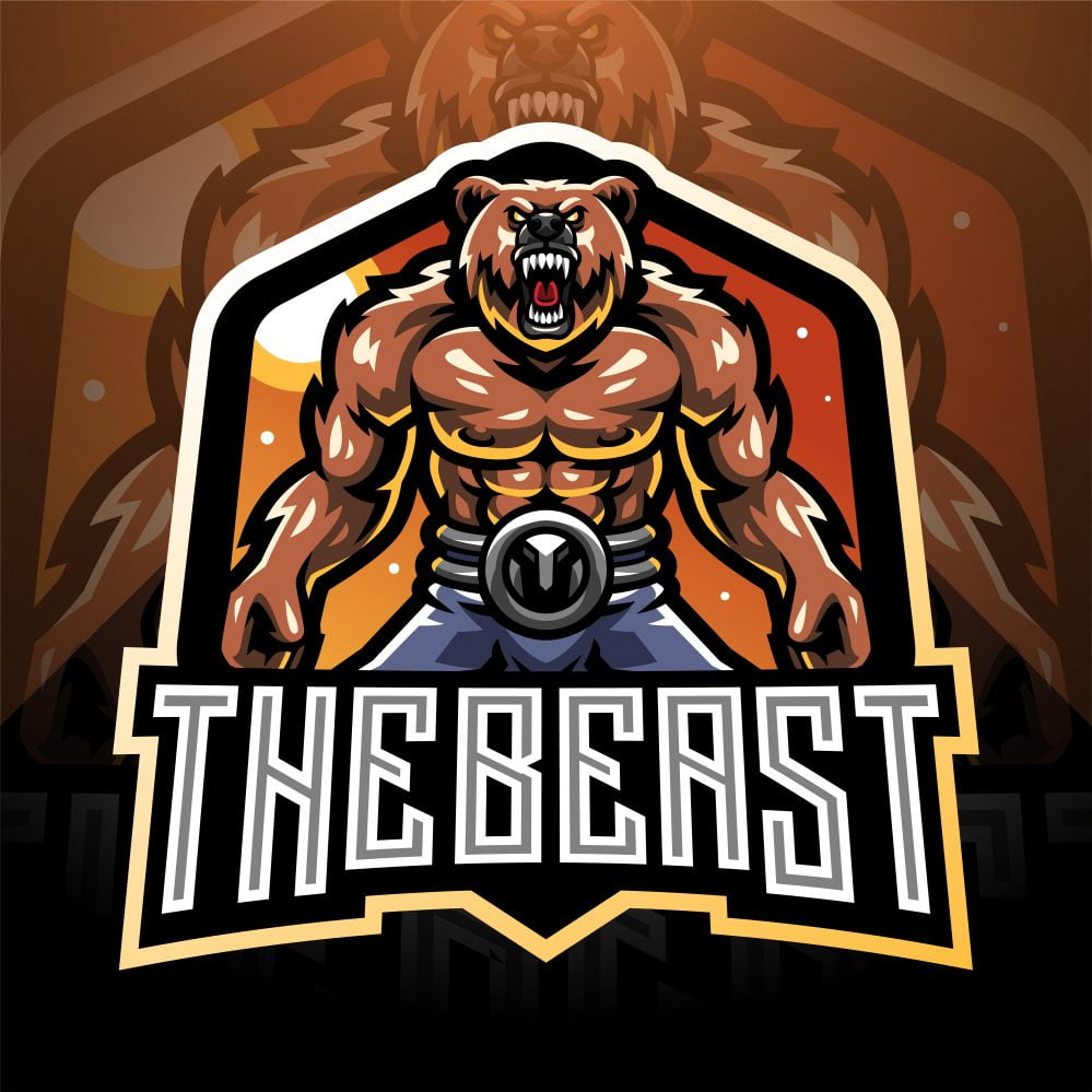 The Beast Esports Mascot Logo Template