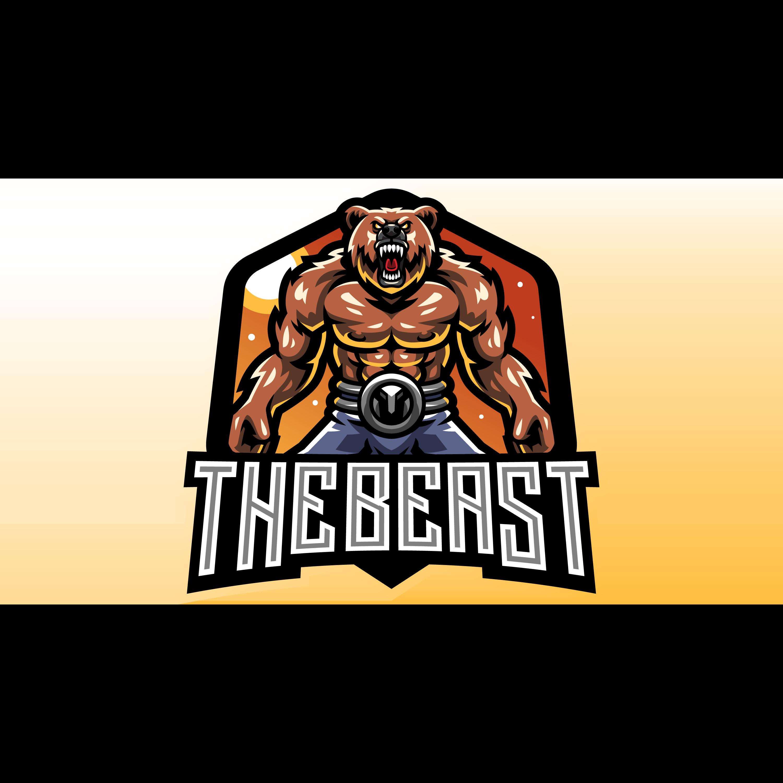 The-Beast-Esports-Mascot-Logo-Template-PNG-Transparent