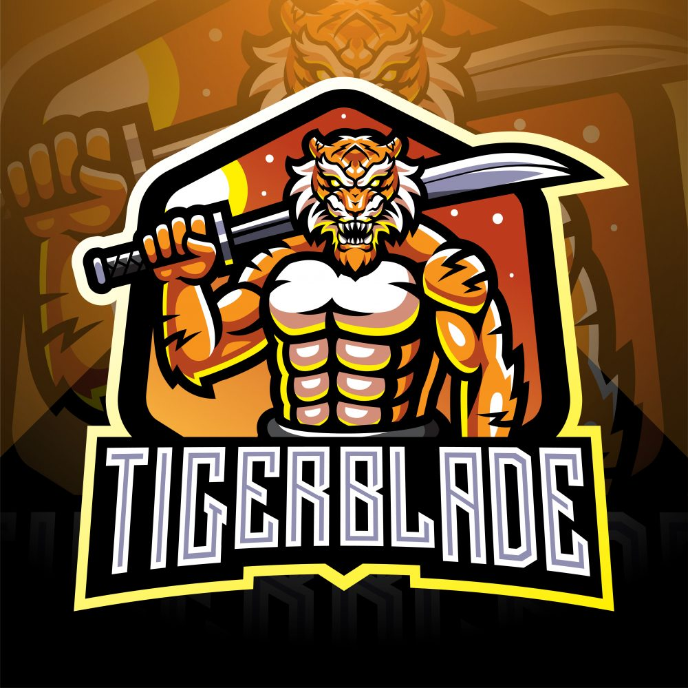 TigerBlade Esports Mascot Logo