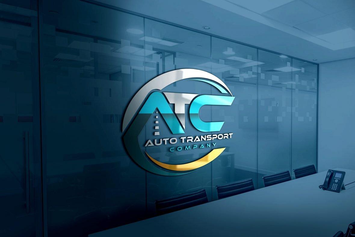 Transport Company Logo Design PSD