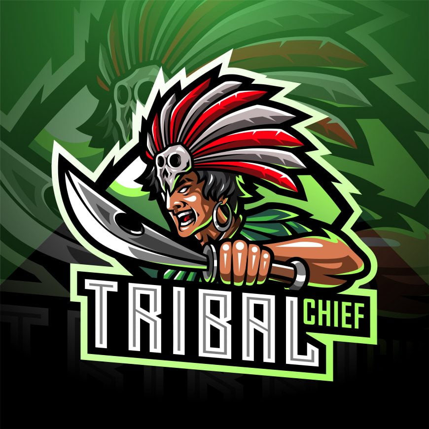 Tribal Chief Mascot Logo Template
