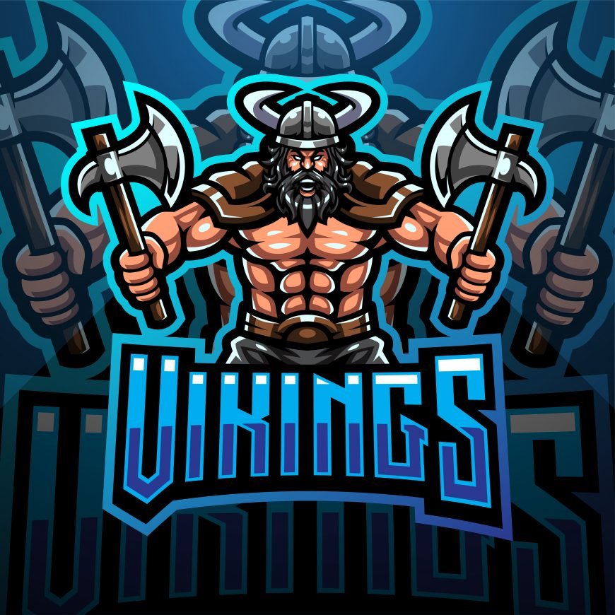 Vikings Squad Esports Mascot Template