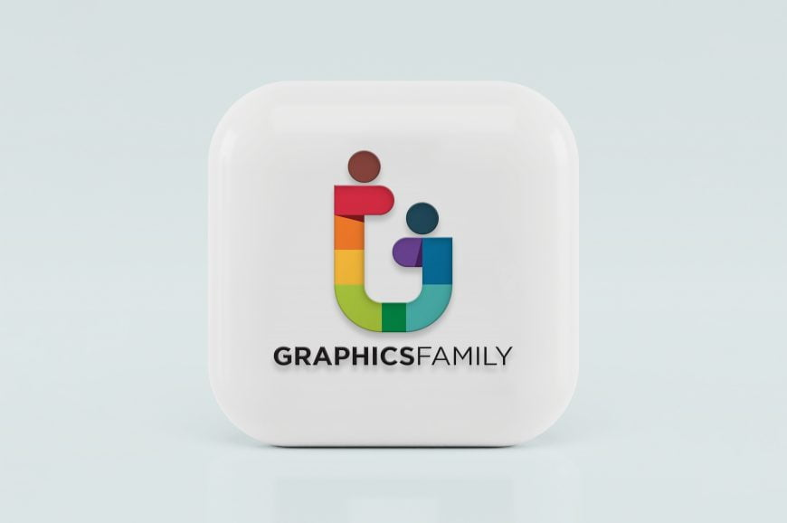 3D Icon Logo Mockup Graphic Family