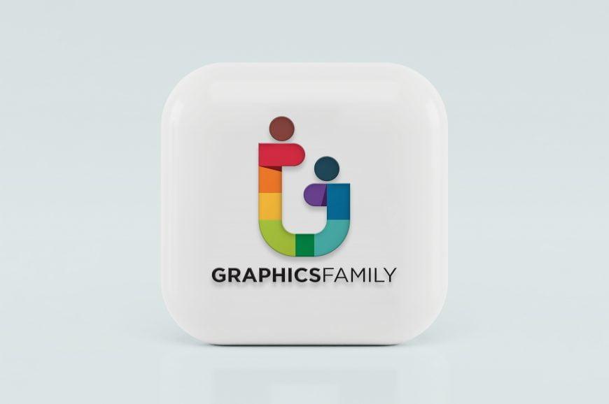 3D Icon Logo Mockup Graphic Family