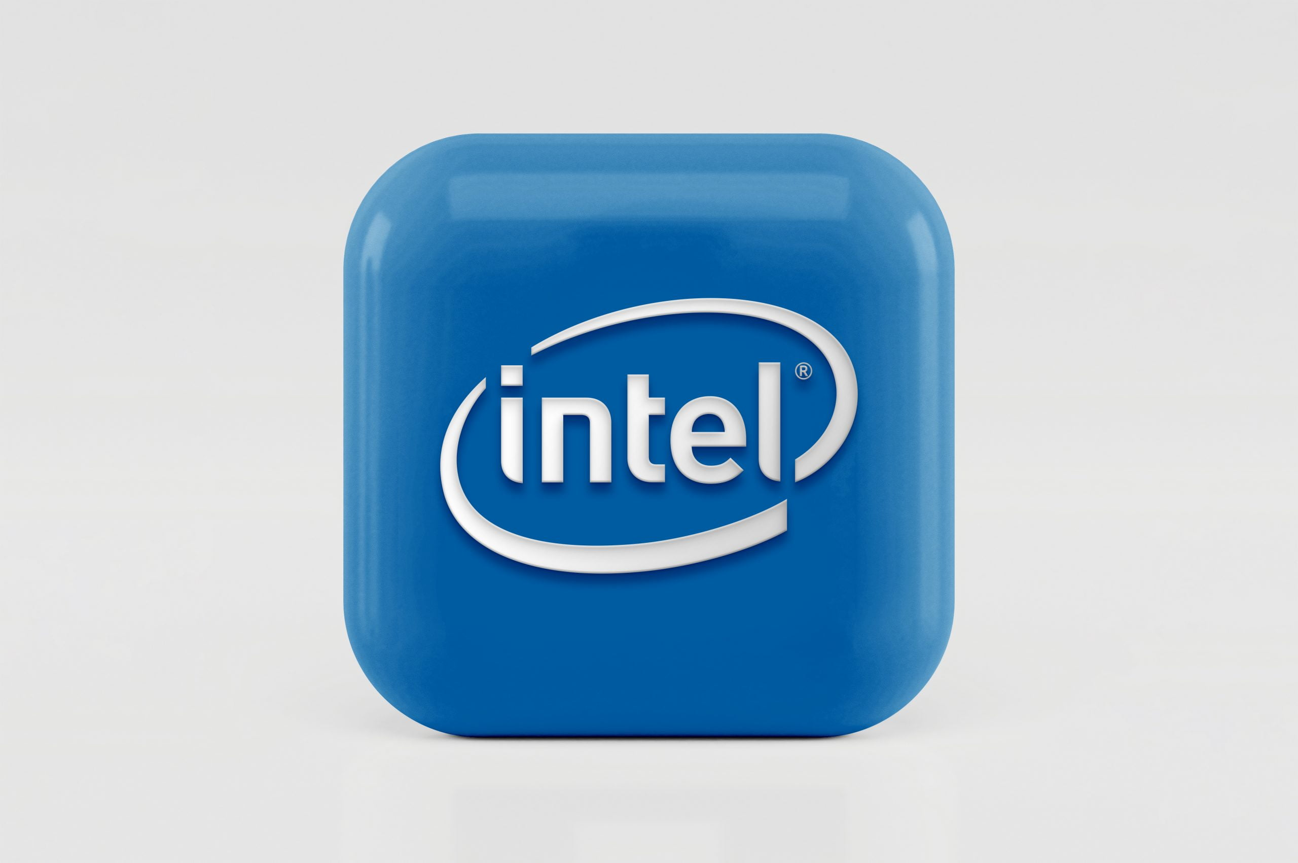 3D Icon Logo Mockup Intel