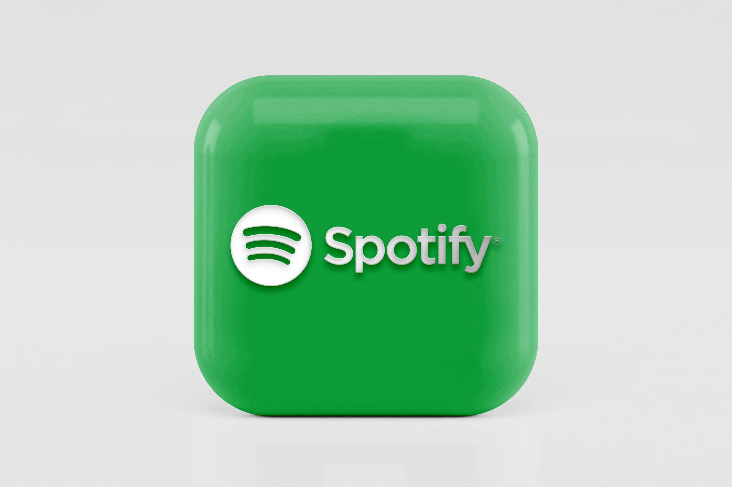 3D Icon Logo Mockup Spotify