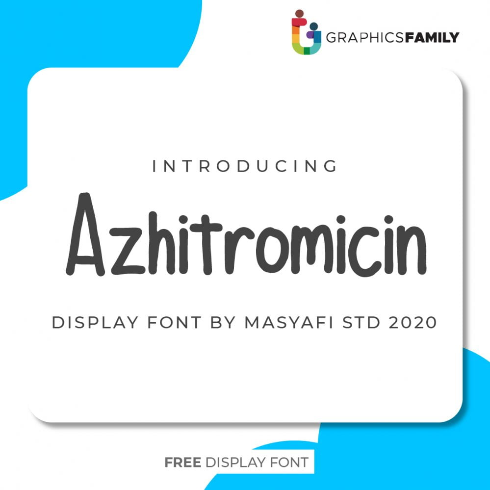 Azhitromicin is a simple and casual handwritten font. Its natural and unique style makes it incredibly fitting to a large pool of designs.