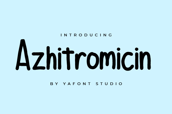 Azhitromicin-Font Download