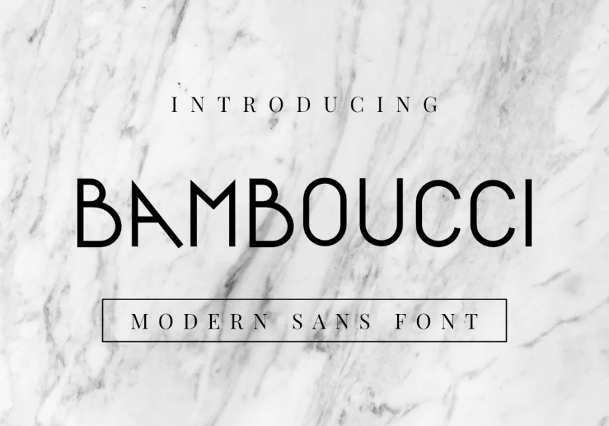 Bamboucci Font by GraphicsFamily
